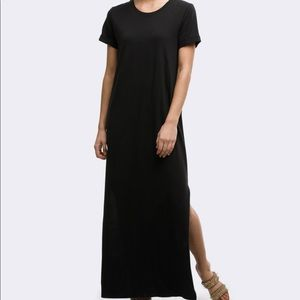 New Long Black T-shirt Dress (see pics)